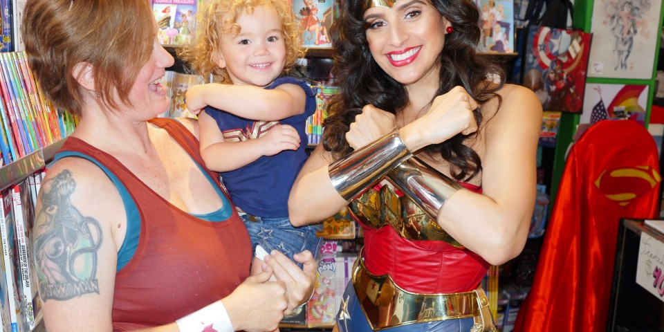 Cat Staggs and her Wonder Girl
