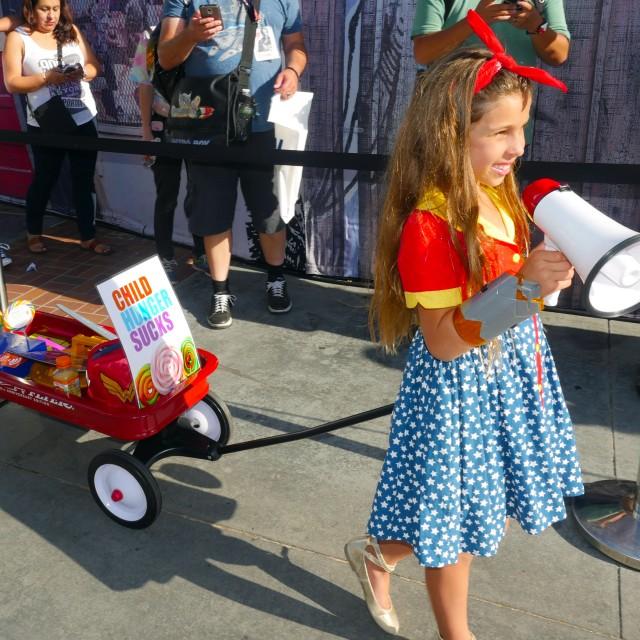Wonder Girl against Child Hunger